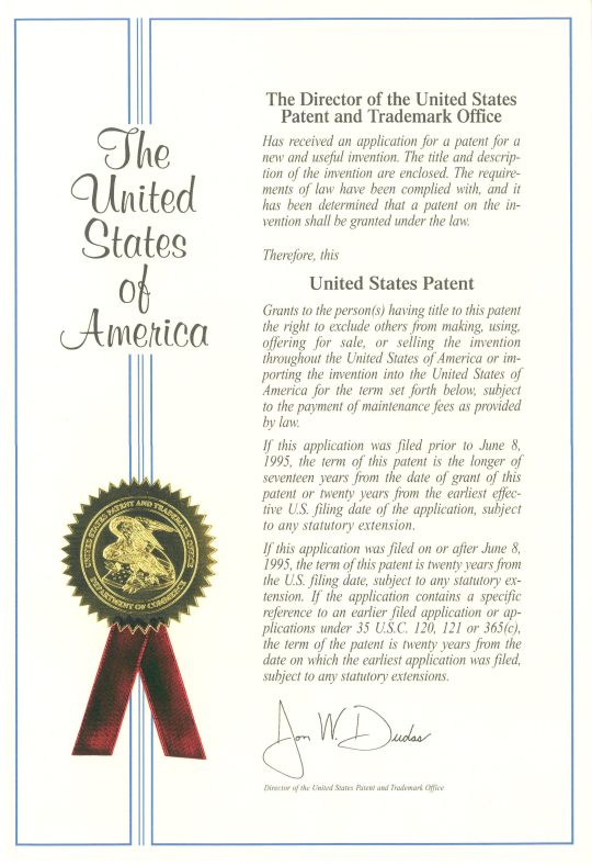 US OptiTight patent front page
